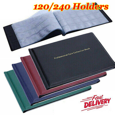 Coin Album for 240 120 Coins Perfect for 50p £1 Coins Penny Storage Holder Book