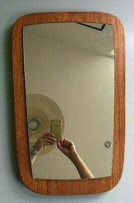 vintage retro Antique g plan mirror teak danish 1970s wall hanging