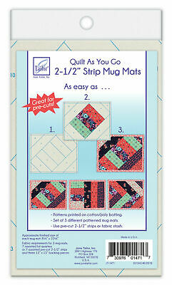June Tailor--Quilt As You Go Pre Printed Batting--Strip Mug Mats Jt1471