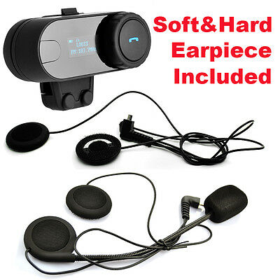 TCOM-SC Bluetooth Intercom Motorcycle Headset + Soft Earpiece Earphone With Mic