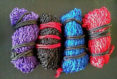 """FREE P/&P Deluxe Small Hole 2/"""" Mesh Haynet Haylage Net 40/"""" length Qty 4 Purple"""