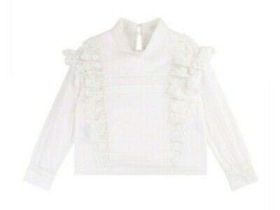 Zadig & Voltaire BNWT Girls Blouse Lace Frill Shirt Age 4/102 - 2019 Style £72 R