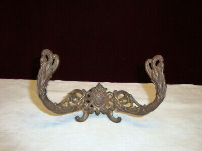 Vintage Cast Iron Wall Hook C.1900, Ornate design Salvage from Historic House