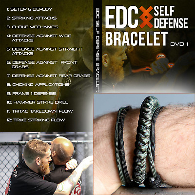 Wearable EDC Self Defense Survival Weapon Bracelet & Self Defense Training DVD