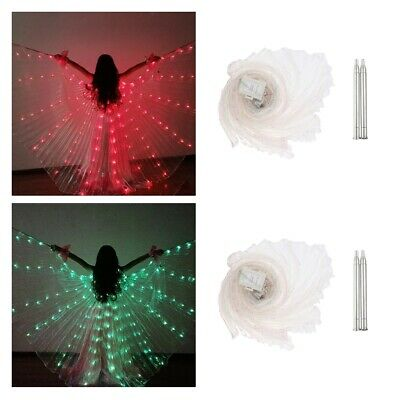 2x Large LED Butterfly Belly Dance Isis Wings Egypt Club Glow Wings Costumes