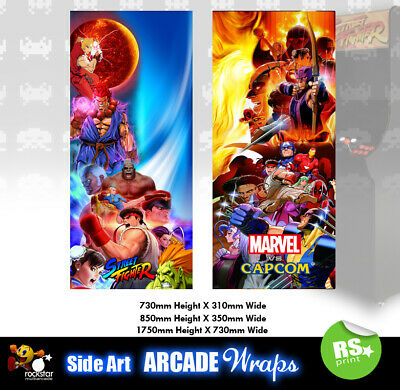 Street Fighter Marvel  Arcade Side Artwork Panel Stickers Graphics / All Sizes