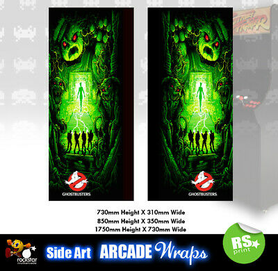 Ghostbusters Arcade Side Artwork Panel Stickers Graphics / Laminated All Sizes