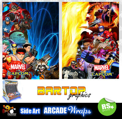Marvel Capcom Arcade Side Artwork Panel Stickers Graphics / Laminated All Sizes
