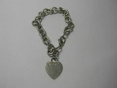 Tiffany & Co plain heart tag bracelet sterling silver. Genuine.
