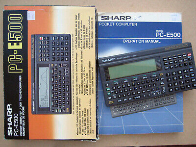Sharp PC-E500 Pocket Computer with 128K RAM card