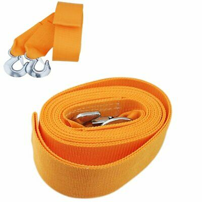 2x Tow Rope 8T 4x4 Heavy Duty Towing Pull Strap Road Recovery with Two Shackles