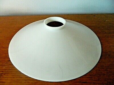 C 1930s French Coolie Pendant Lampshade  Opalescent White Glass # L