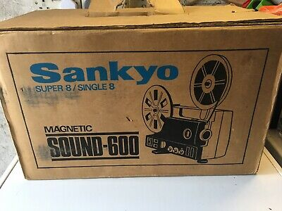 Sankyo 600 Super 8 sound Film projector very nice serviced and boxed