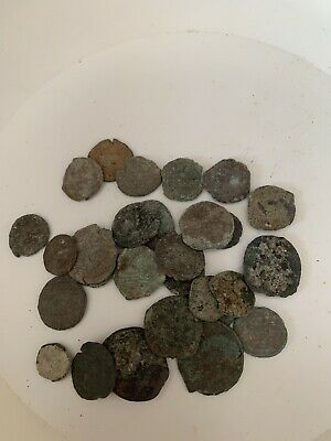 Uncleaned Ancient Roman 29 Coin Lot— Some Detail — 45.2 Grams