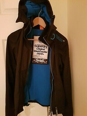 Superdry Original Small ladies/girls Windcheater  jacket black blue
