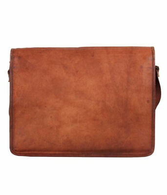 Mens Retro Real Vintage Leather Messenger Business Laptop Satchel Briefcase Bag