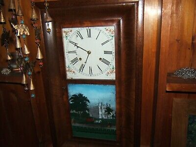 Antique 1860'S American Wall Clock  - Jerome & Co. New Haven Conn.picture Ogee
