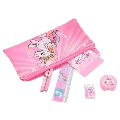 1x Cartoon Unicorn Pencil Case Kids Girls Boys School Supply Stationery sdRQv