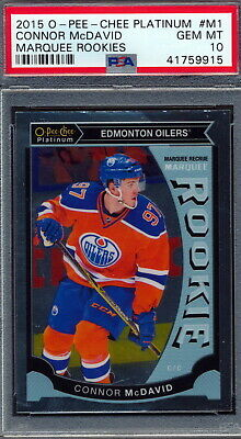 2015-16 O-Pee-Chee Platinum Marquee #M1 Connor McDavid Rookie Card Graded PSA 10