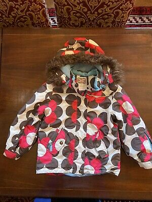 Mini Boden Girls Flower Ski Jacket Age 7-8