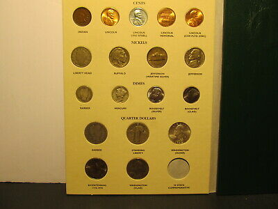 20Th Century Us Type Coins Complete <> Archival Quality Album 35 Coins Total