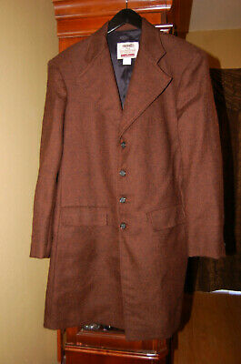 English Riding Coat Size 40 - 100% Wool - Brown Tweed - Oldfrontier Clothing Co.
