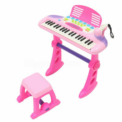 37 Key Electronic Keyboard Kid Toy mp3 Piano Microphone Stool teaching function
