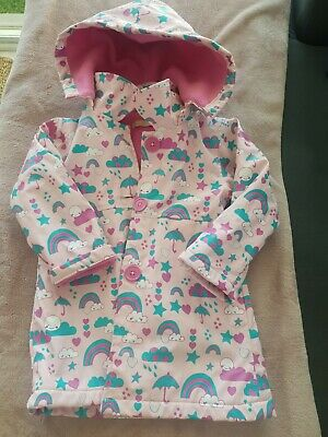 Kids Toddler Rain Jacket Girls Lily And Dan Rainbow Cloud Raincoat Size 3