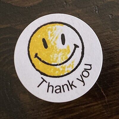 #515 Happy Face Thank You Labels Stickers