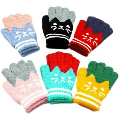 Winter Touch Screen Gloves Lady Men Warm Knit Mittens Imitation Wool Full Finger