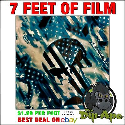 Hydrographic film Punisher We the people skulls hydro dip dipping 7'