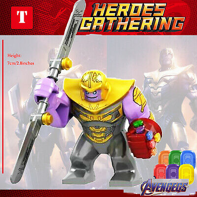 Thanos Marvel Super Heroes thanos Mini Figures Avengers Superhero Minifigures