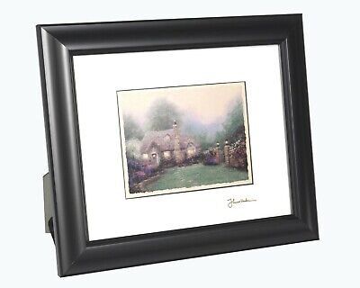 Thomas Kinkade Evening at Merritt's Cottage 10 x 12 Framed Matted Print