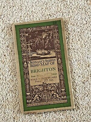 Vintage Ordnance Survey Road Map of BRIGHTON Sheet 39.