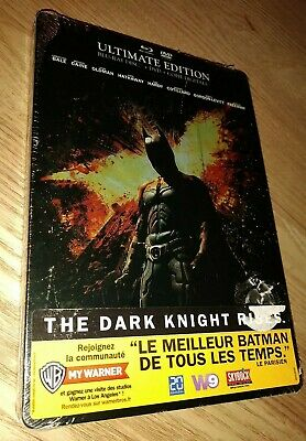 BATMAN The Dark Knight Rises Blu Ray STEELBOOK NEUF