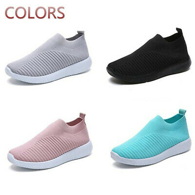 Womens Trainers Mesh Sport Running Sneakers Tennis Breathable Casual Sock Shoes