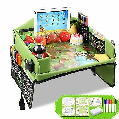 Drivaid Kids Travel Play Tray, Baby Car Seat Tray To Drawing, Organize Snacks,