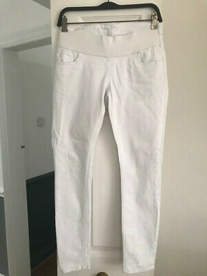 ASOS Maternity white denim skinny jeans size UK 10 exc condition