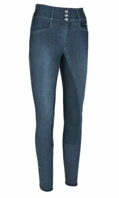 Pikeur Candela Grip Denim Breeches Size 46 Uk 18