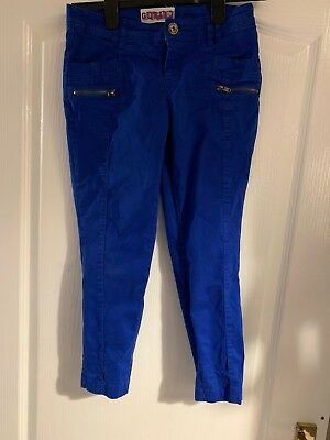 New Look Generation Royal Blue Girls Zipped Trousers Age 12 Years