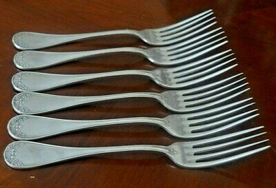 Ercuis antique French silver plate SIX large forks 8 ins