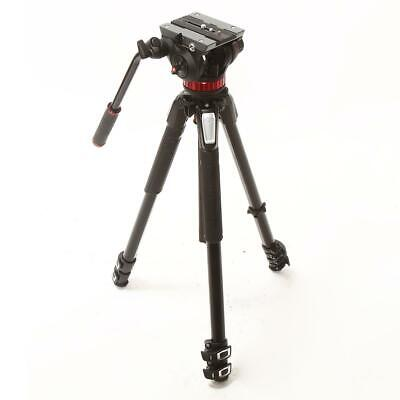 Manfrotto MVH502AH Fluid Video Head with MT055XPRO3 3-Section Tripod - #1192776