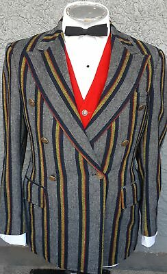 Wool Double Breasted 'Boating' Jacket, USA, 1960's, grey/ red/ navy/ yellow s...