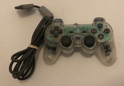 Clear Transparent Official Sony Playstation 1 PS1 DualShock Controller SCPH-1200