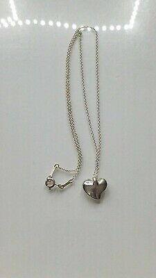 Tiffany&co Sterling Silver Small Elsa Peretti Heart Necklace