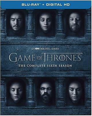 Game of Thrones The Complete SIXTH Season 6 BLURAY+DIGITAL -Brand New- Fast Ship