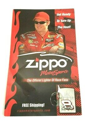 Zippo Lighters Advertising Brochure Nascar Motor Sports Get Ready to Turn Up New
