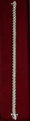 "14k Solid White Gold 7"" Diamond Link Tennis Bracelet 3.00 cts tw  15.8 grams"