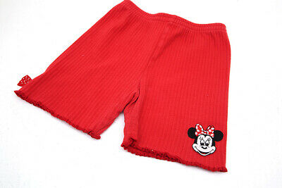 VINTAGE CHILDS DISNEY RED COTTON CUT OFF SHORTS WITH MINNIE MOUSE 5-6 YEARS  vgc