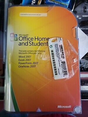 Microsoft Office Home and Student 2007 GENUINE retail 3user 79G-01498 Win 7 8 10